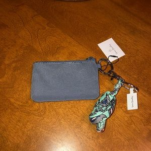 Vera Bradley Lanyard Zip ID Case NWT Charcoal Gray